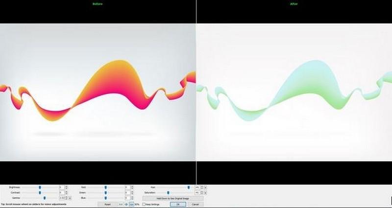 regolazione colori immagine con faststone