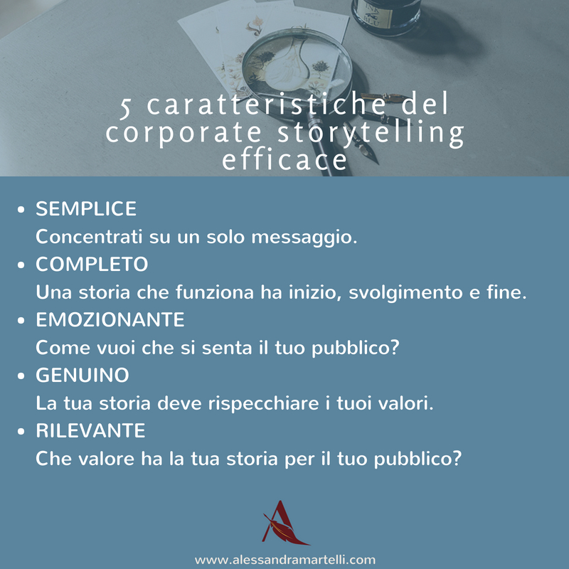 Caratteristiche del corporate storytelling efficace