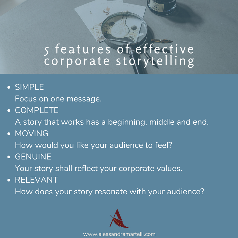 corporate storytelling features