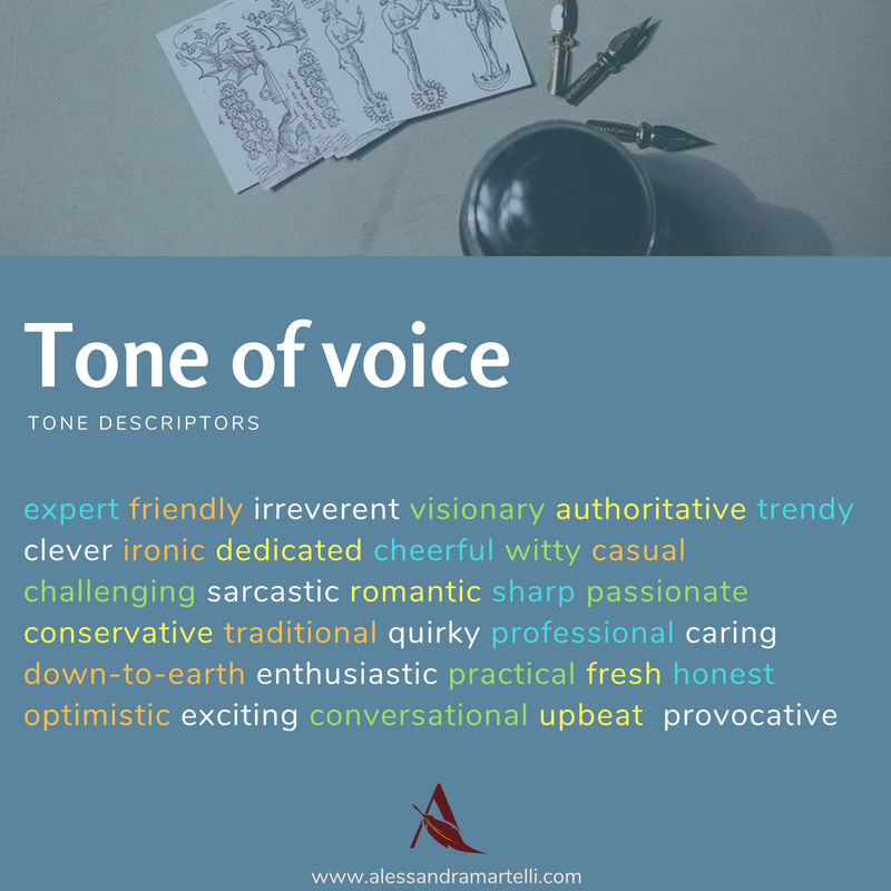 tone of voice adjectives