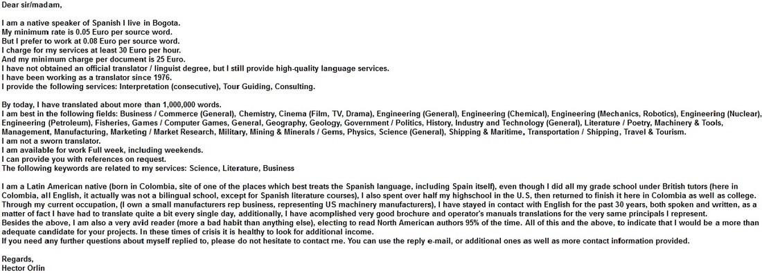 email fraudolenta falso traduttore